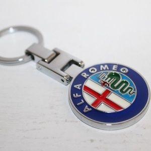 Other - Alpha Romeo Logo Chrome Keychain